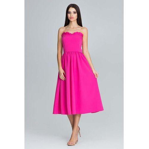 f4c7df0e72 Figl Fuksja wieczorowa midi sukienka gorsetowa z falbankami 194