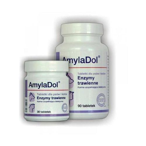 DOLFOS Amyladol tabletki dla psów i kotów wyrównujące zaburzenia trawienia 30/90 tabl. (witaminy dla psów)