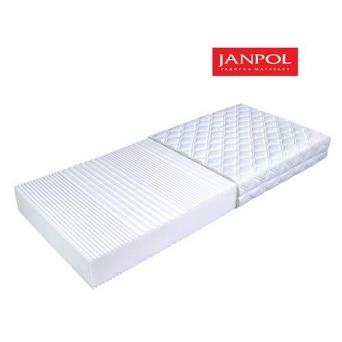 Janpol flora - materac piankowy, rozmiar - 90x190, pokrowiec - jersey standard wyprzedaż, wysyłka gratis marki Materace janpol