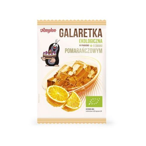 Galaretka o smaku pomarańczowym bio 40 g - marki Amylon