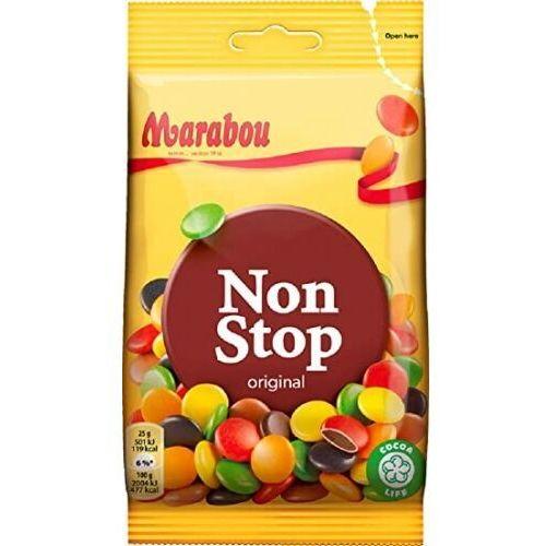 Marabou - non stop original - czekoladowe draże w 6 smakach - 100g - ze szwecji (7310510001729)