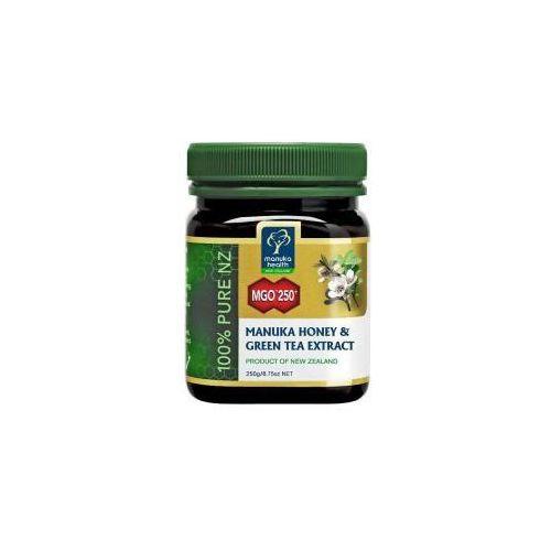 Miód manuka mgo 250+ z ekstraktem z zielonej herbaty 250 g marki Manuka health new zealand