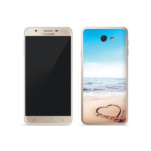 Samsung Galaxy J7 Prime - etui na telefon Foto Case - serce na piasku