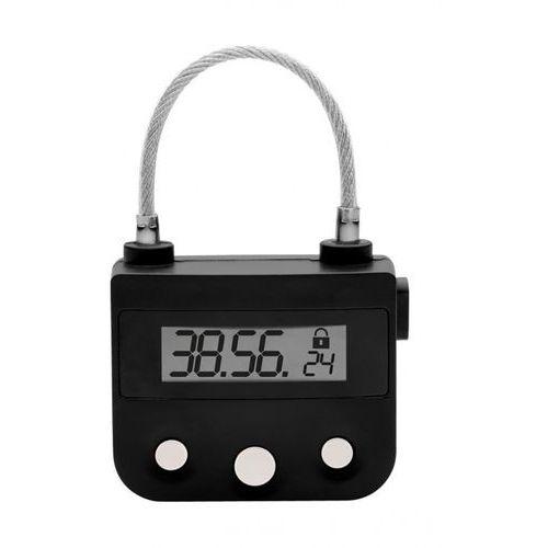 Master series Kłódka z elektronicznym zamkiem zegarowym the key holder time lock, kolor: czarny