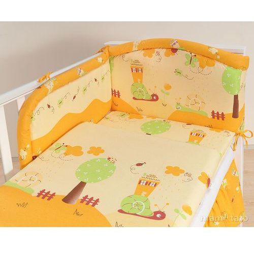 MAMO-TATO pościel 3-el Ślimaki pomarańczowe do łóżeczka 70x140cm - produkt dostępny w MAMO-TATO