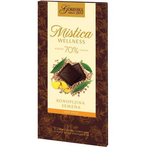MISTICA WELLNESS czekolada gorzka 70% z nasionami konopi