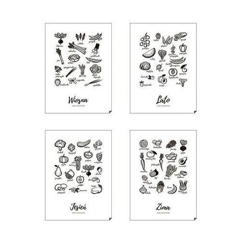 Plakat Wiosna, Lato, Jesień i Zima - Jedz sezonowo 4 szt. 40 x 50 cm, 4sezony-4050