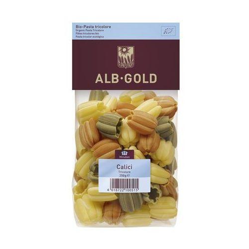 Makaron calici (tulipan) trójkolorowy bio 250g - marki Alb gold