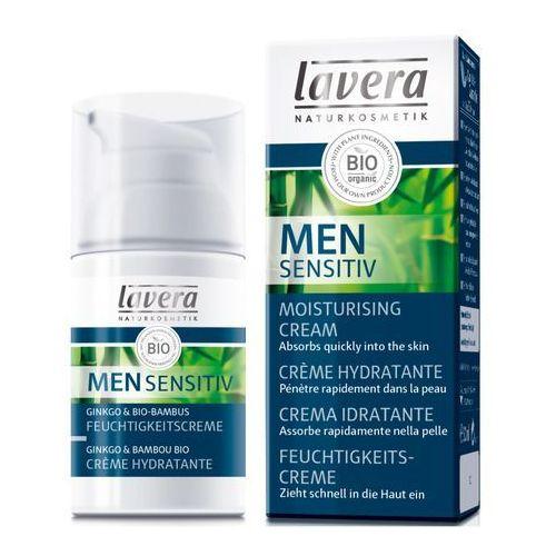 Lavera Men Sensitiv Krem nawilżający z wyciągiem z bio-miłorzębu i bio-bambusa 30ml (4021457605859)