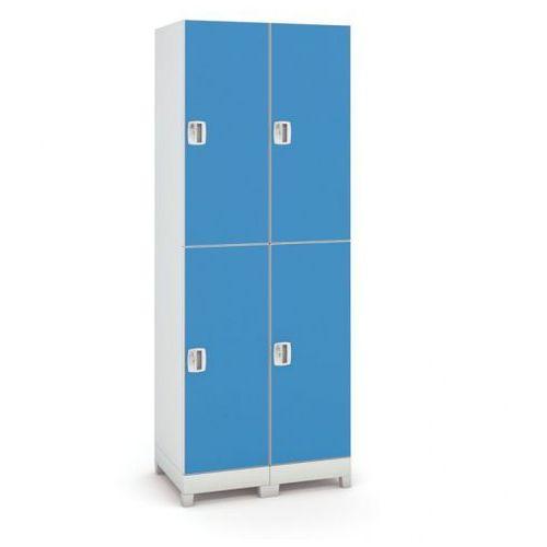 Szafa z tworzywa sztucznego, 4 drzwi, niebieski marki B2b partner
