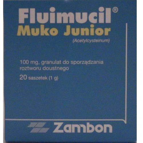 FLUIMUCIL MUKO JUNIOR 100 mg 20 saszetek (na kaszel)