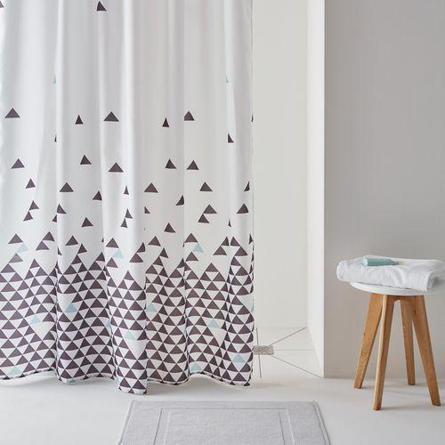La redoute interieurs Zasłona prysznicowa fly, wzór w trójkąty.