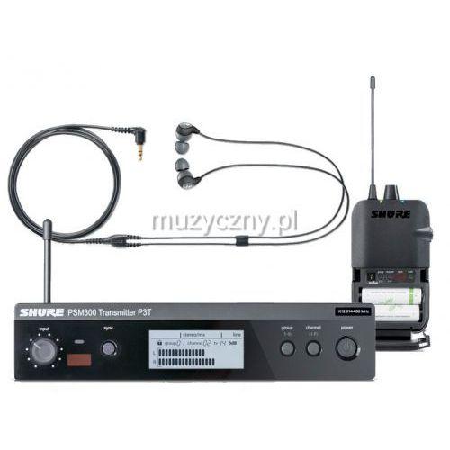 psm 300 p3tr112gr bezprzewodowy system monitorowy: nadajnik, odbiornik p3r, słuchawki se112 marki Shure