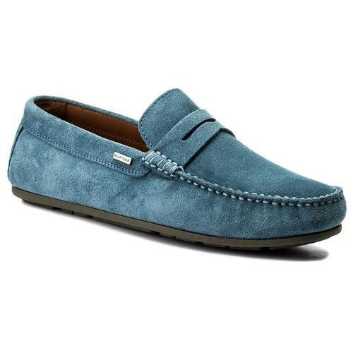 Mokasyny TOMMY HILFIGER - Classic Suede Penny Loafer FM0FM01168 Jeans 013, 40-45