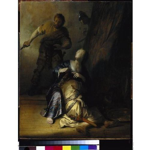 obraz Simson und Delila - Rembrandt (obraz)