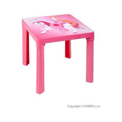 Dziecięcy plastikowy stolik różowy marki Star plus