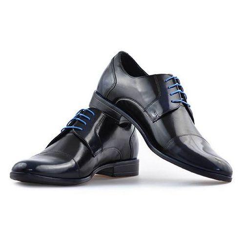 Pantofle Pan 763 Czarny+Niebieski, kolor niebieski
