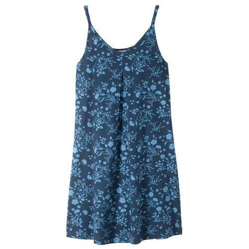 53de9269a3 Sukienka shirtowa z nadrukiem ciemnoniebiesko-niebieski z nadrukiem marki  Bonprix 34