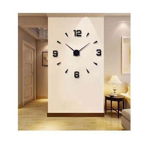 Creativehome Ogromny zegar ścienny 3d (regulowana średnica od 70-150cm!!) - w 2 kolorach do wyboru.