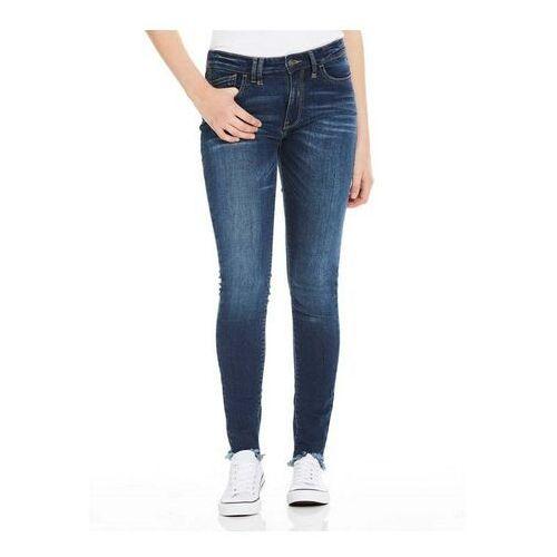 spodnie BENCH - Skinny Mid Worn Blue Dark Worn (DW1030) rozmiar: 27/32, skinny