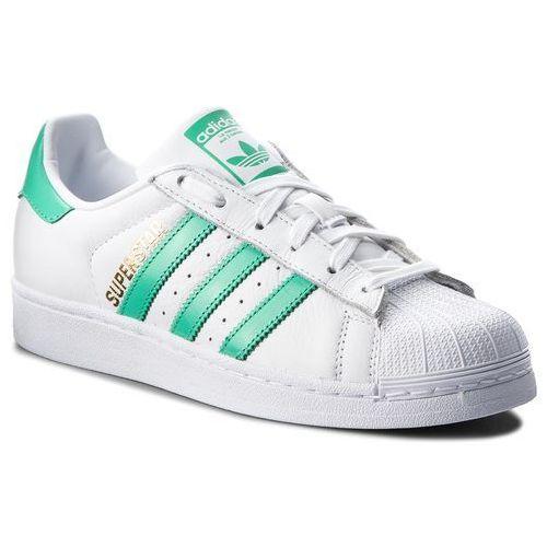 Adidas Buty - superstar b41995 ftwwht/hiregr/goldmt
