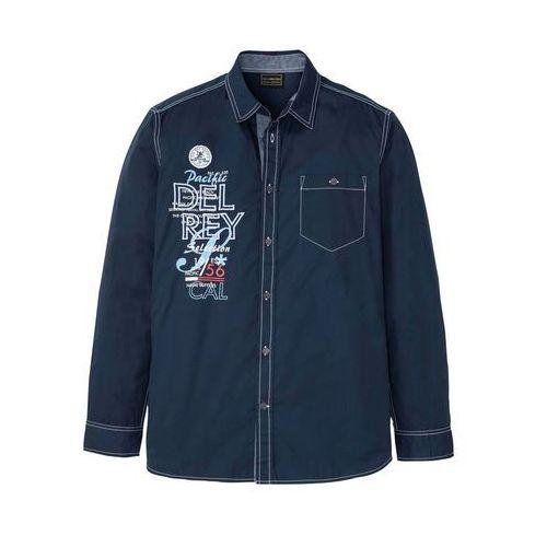 Koszula z nadrukiem ciemnoniebieski z nadrukiem, Bonprix, M-XXXXL