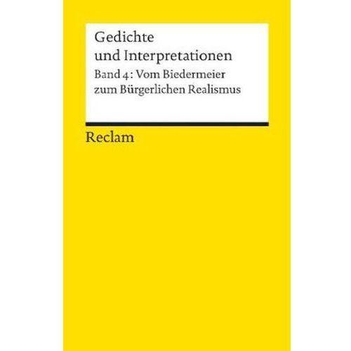Vom Biedermeier zum Bürgerlichen Realismus Häntzschel, Günter