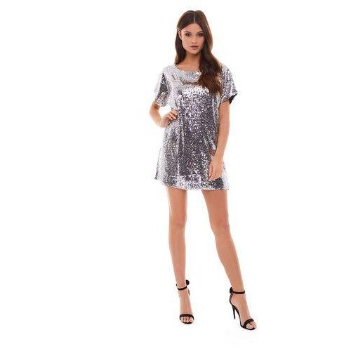 Sugarfree Sukienka sagitta w kolorze srebrnym