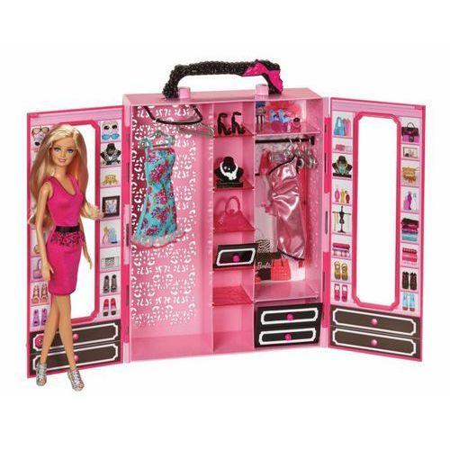 Mattel Garderoba - walizeczka z ubrankami i lalką BMC00 - sprawdź w Mall.pl