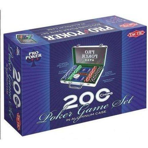 Pro poker 200 żetonów w aluminiowej walizce marki Tactic