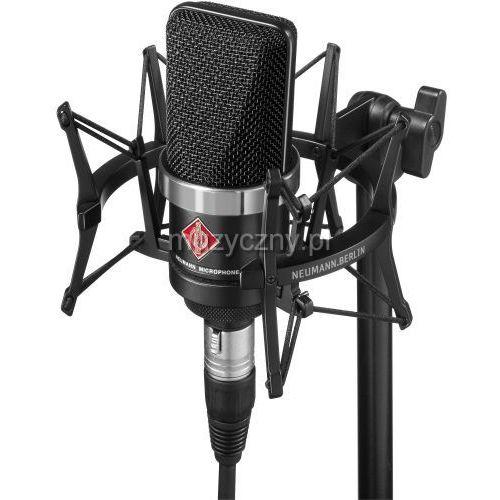 Neumann tlm 102 studio set mikrofon wielkomembranowy + uchwyt elastyczny ea4, kolor czarny