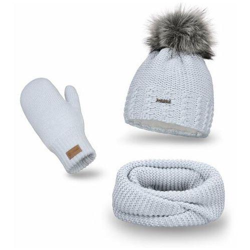Pamami Komplet , czapka i komin - lodowy
