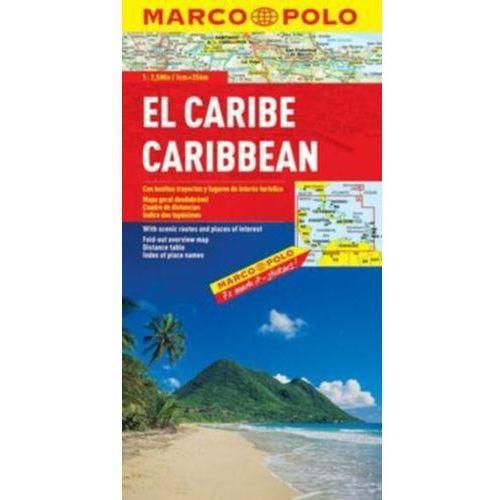 Karaiby. Mapa samochodowa, składana 1:2 500 000. Marco Polo (2012)