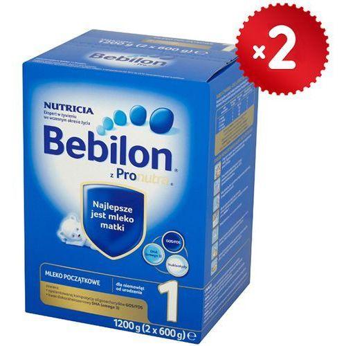 Zestaw 2x  1200g 1 z pronutra mleko początkowe od urodzenia, marki Bebilon