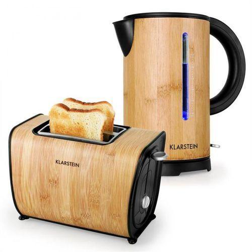 Bamboo Garden Zestaw śniadaniowy Small Czajnik elektryczny | Toster | Bambus