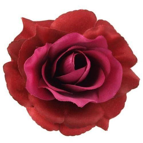 Róża wyrobowa 11 cm - fioletowo-bordowa - fiobo marki Creativehobby