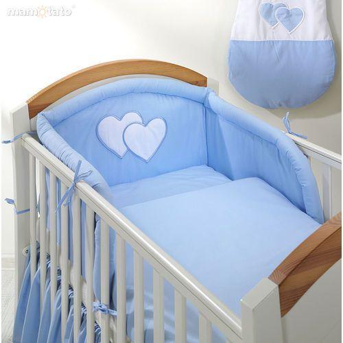 pościel 2-el serduszka w błękicie do łóżeczka 70x140cm marki Mamo-tato