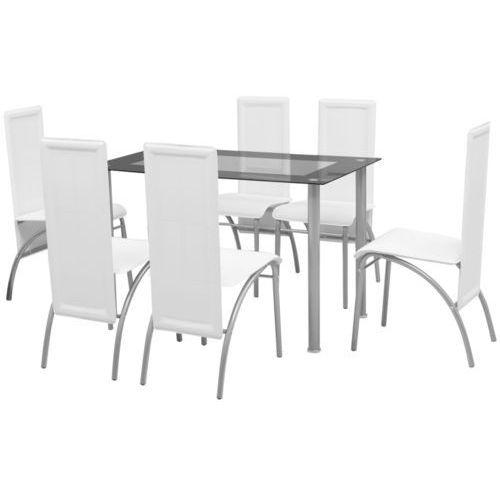 vidaXL Zestaw mebli do jadalni 7 elementów Biały, kup u jednego z partnerów