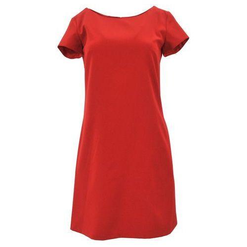 Klasyczna sukienka z kieszeniami i guzikami (czerwona), kolor czerwony