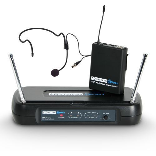 Ld systems ws eco2 bph b6 ii mikrofon bezprzewodowy nagłowny (633.400 mhz)