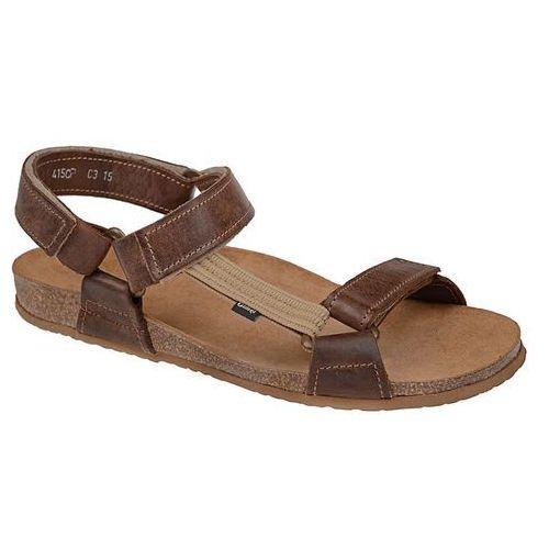 Sandały OTMĘT 415CP Brązowe NaturForm Fussbett Jezuski - Brązowy, kolor brązowy