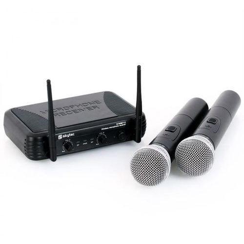 Stwm712 zestaw mikrofonowy vhf bezprzewodowy 2xmik. marki Skytec