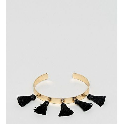 Asos design curve tassel cuff bracelet - gold marki Asos curve
