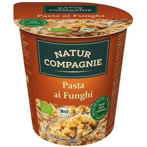 Danie w kubku makaron z grzybami bio 50 g natur compagnie marki Natur compagnie (buliony, kostki rosołowe)