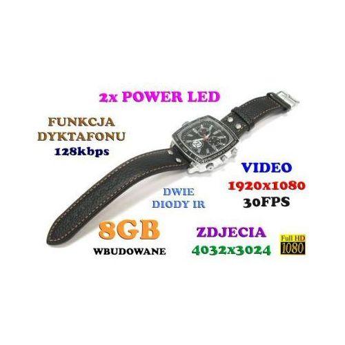 Szpiegowski Zegarek FHD na Rękę (8GB), Nagrywający Obraz/Dźwięk + Dyktafon + 4x Diody IR/LED.