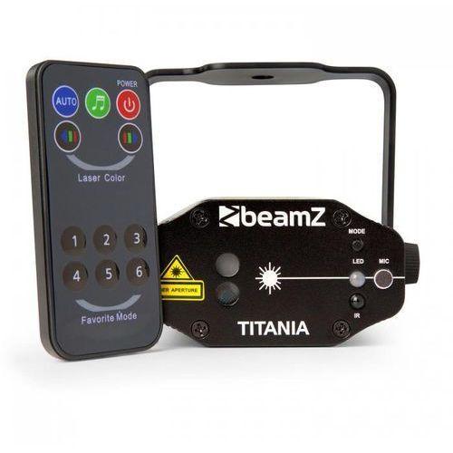 Beamz Titania podwójny laser 200 mw rg gobo pilot