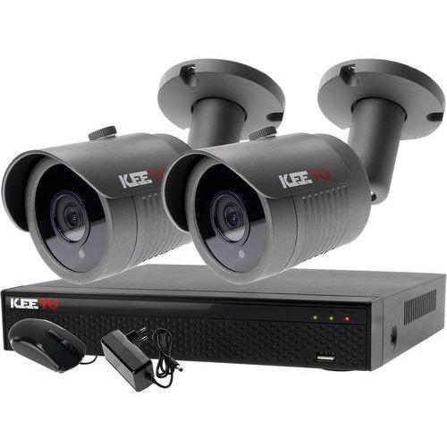 Zestaw 4w1, 2x Kamera FullHD/IR30, Rejestrator 4ch LV-XVR44SE-II chmura, ZM7495