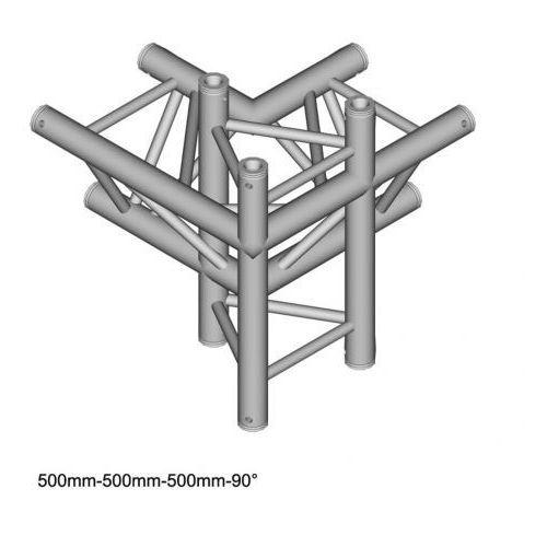 dt 33/2-c44-lud 50cm element konstrukcji aluminiowej - narożnik 4-drożny marki Duratruss