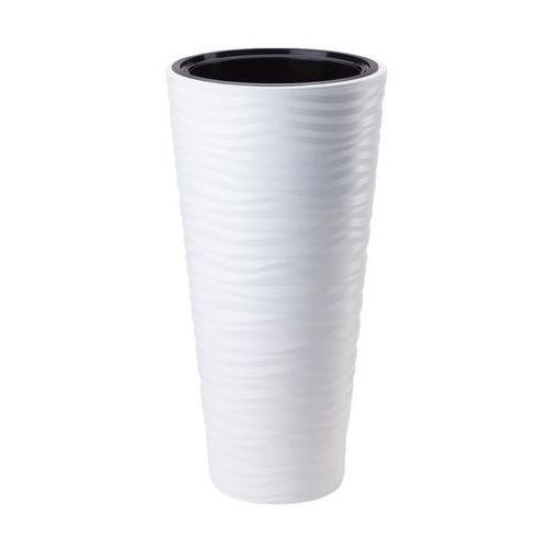 Form-plastic Doniczka plastikowa 40 cm biała sahara slim (5907474343631)