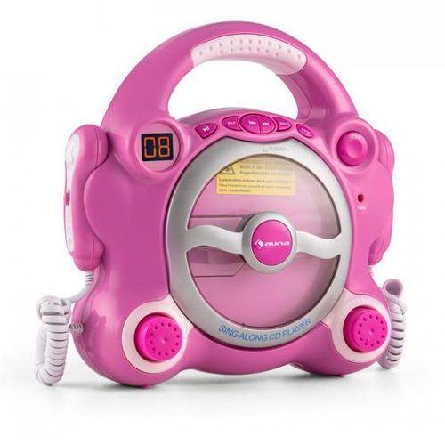 Pocket rocker odtwarzacz cd sing-a-long 2 x mikrofon zasilanie z baterii marki Auna